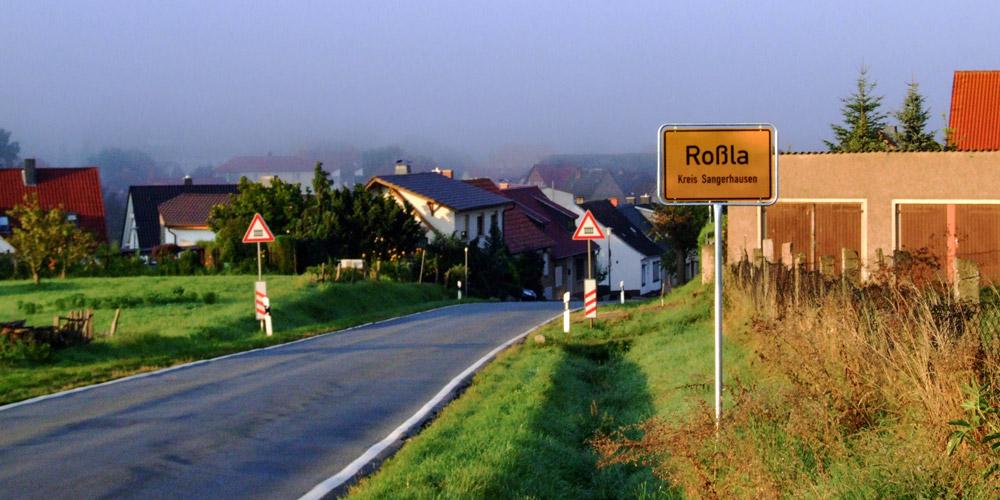 Gemeinde Südharz - Roßla Ortseingang