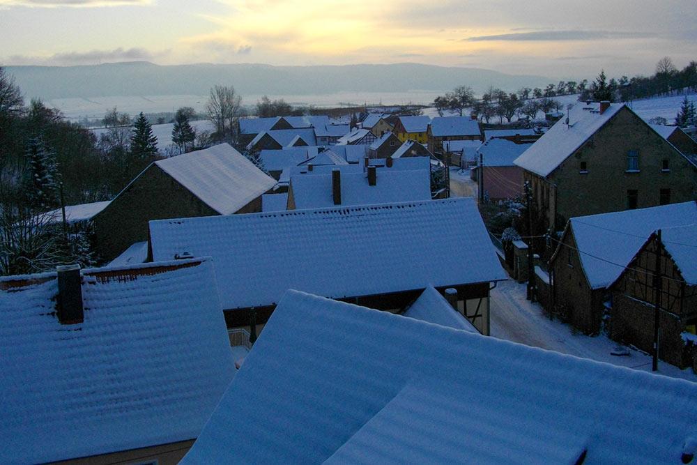 Gemeinde Südharz - Dittichenrode Sonnenaufgang im Winter