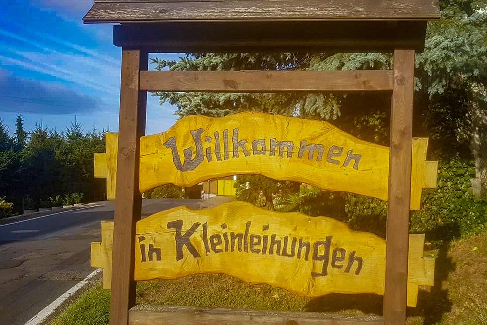Gemeinde Südharz - Kleinleinungen Ortseingang